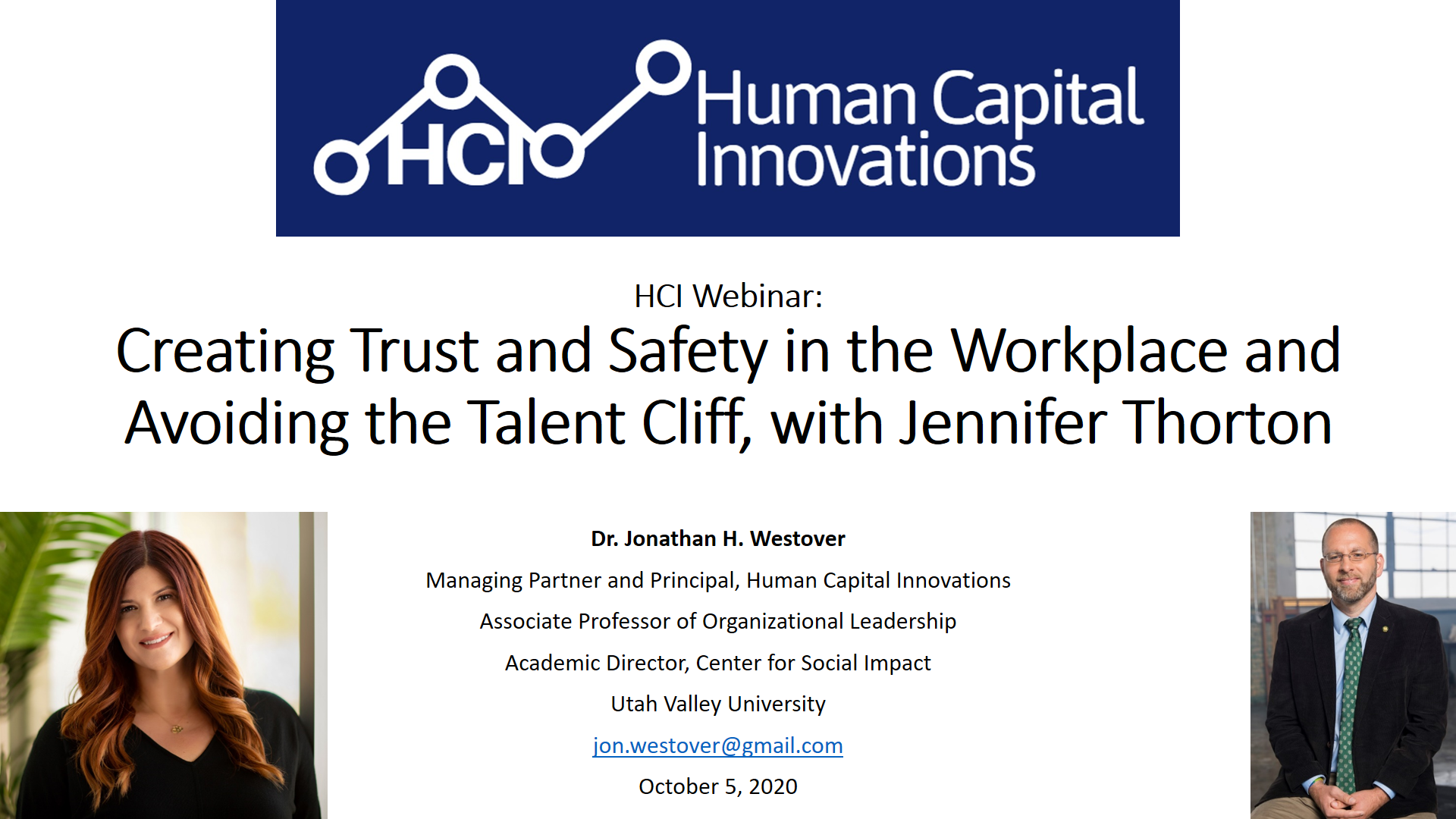 Creating Trust & Safety in the Workplace & Avoiding the Talent Cliff