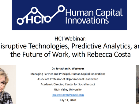 HCI Webinar: Disruptive Technologies, Predictive Analytics, and the Future of Work, w/ Rebecca Costa