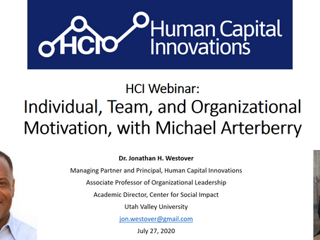 HCI Webinar: Individual, Team, and Organizational Motivation and Success, with Michael Arterberry