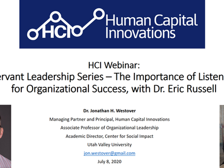 HCI Webinar: The Importance of Listening for Organizational Success, with Dr. Eric Russell