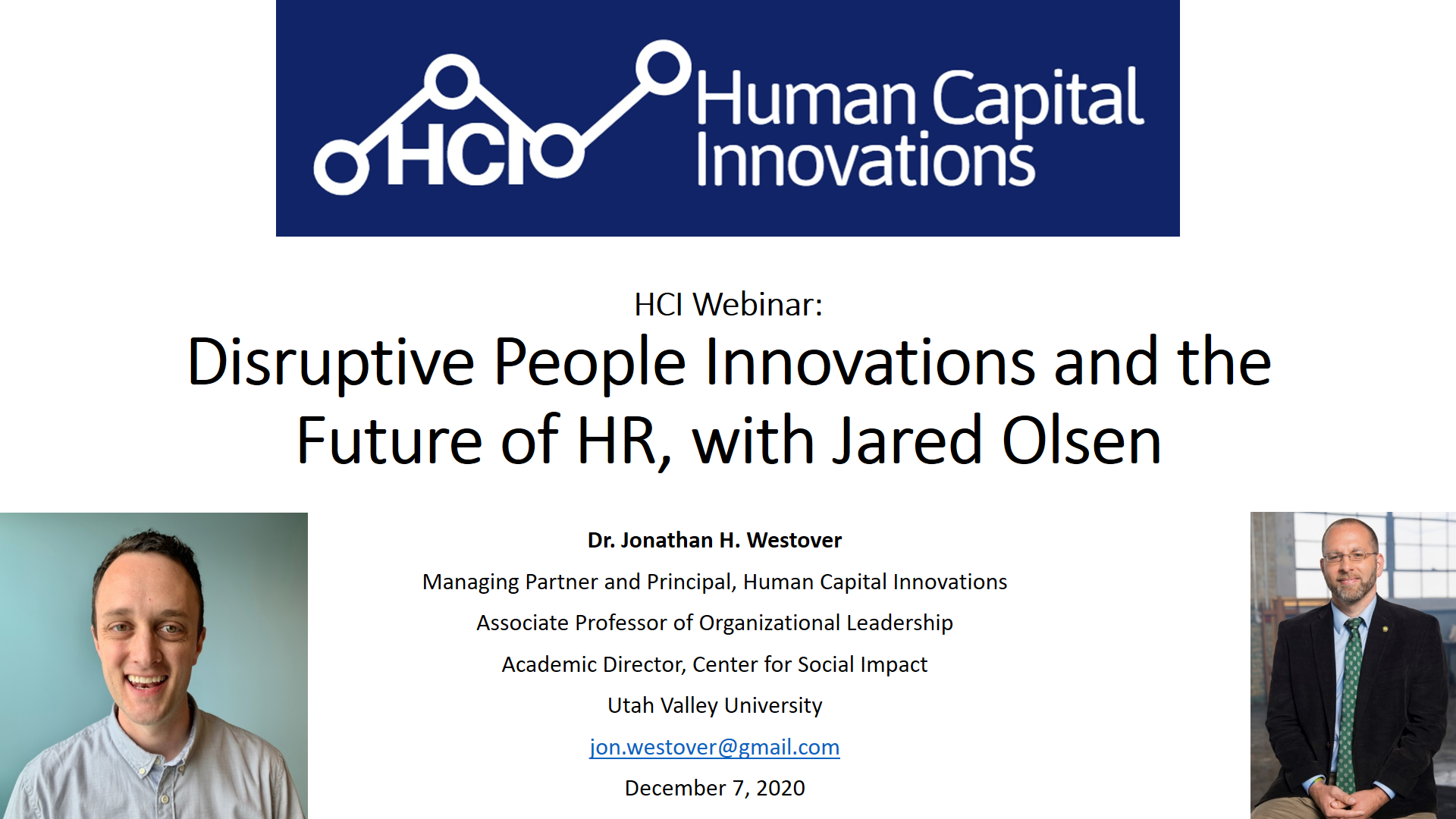 Disruptive People Innovations and the Future of HR