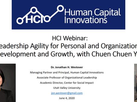 HCI Webinar: Leadership Agility for Personal and Organizational Development, with Chuen Chuen Yeo