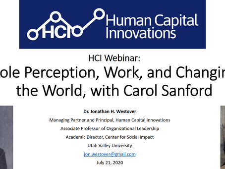 HCI Webinar: Role Perception, Work, and Changing the World, with Carol Sanford