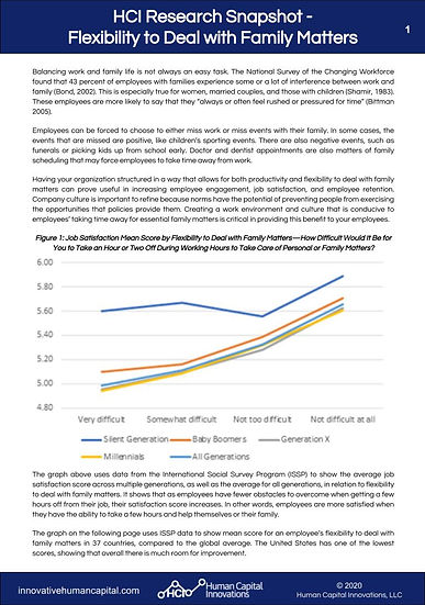 Page 1 HCI Research Snapshot - Flexibili