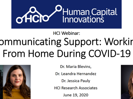 HCI Webinar: Communicating Support: Working From Home During COVID-19
