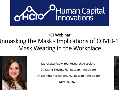 HCI Webinar: Unmasking the Mask - Implications of COVID-19 Mask Wearing in the Workplace
