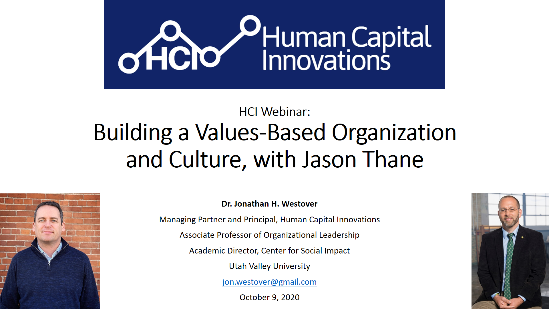 Building a Values-Based Organization and Culture