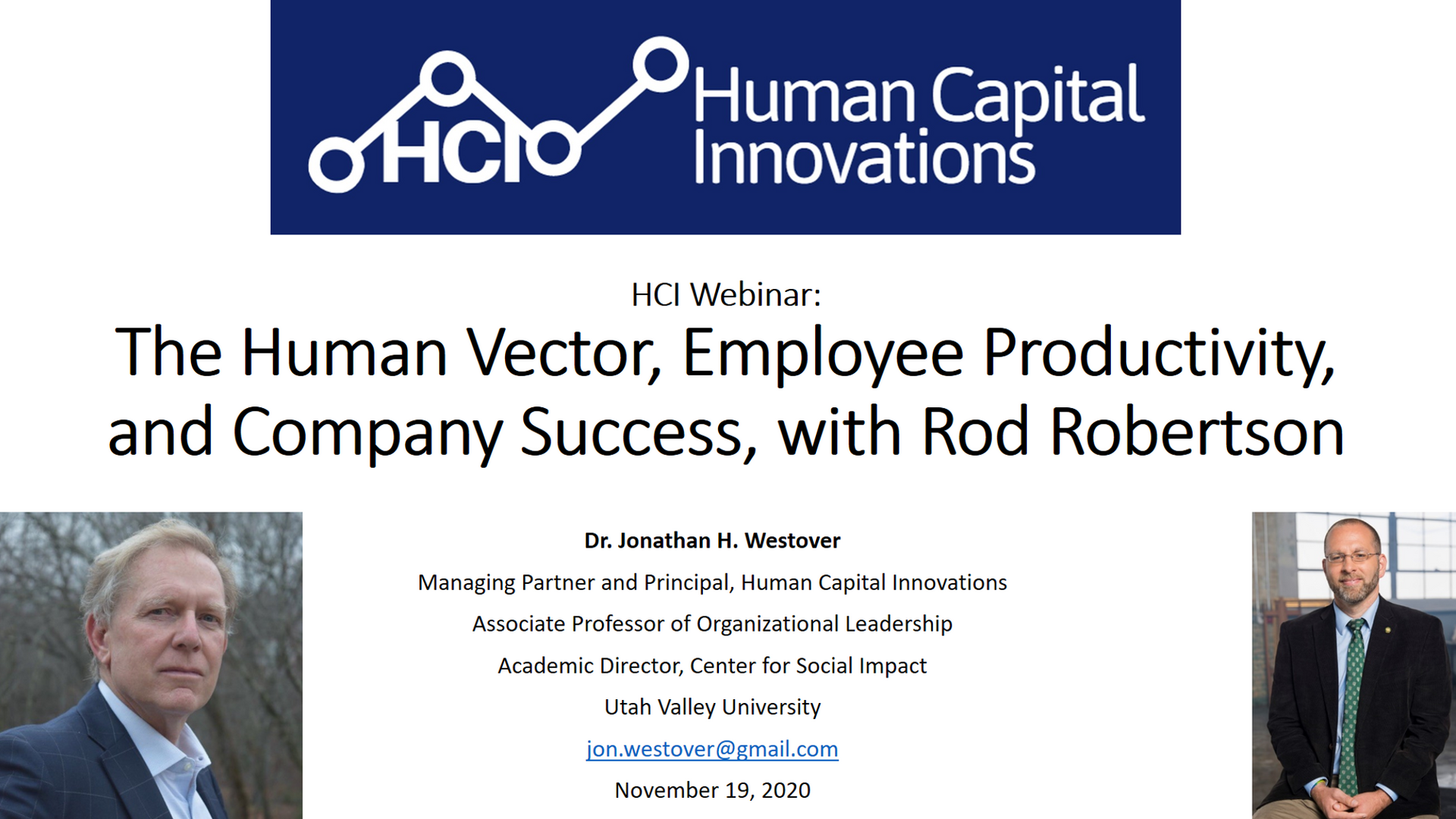 The Human Vector, Employee Productivity, and Company Success