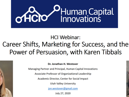 HCI Webinar: Career Shifts, Marketing for Success, and the Power of Persuasion, with Karen Tibbals