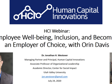 HCI Webinar: Employee Well-being, Inclusion, and Becoming an Employer of Choice, with Orin Davis
