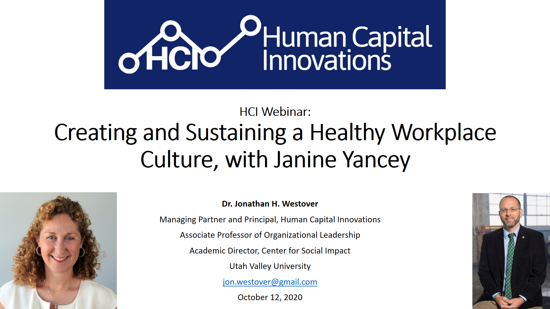 Creating and Sustaining a Healthy Workplace Culture