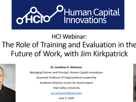 HCI Webinar: The Role of Training and Evaluation in the Future of Work, with Jim Kirkpatrick