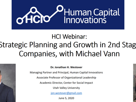 HCI Webinar: Strategic Planning and Growth in 2nd Stage Companies, with Michael Vann
