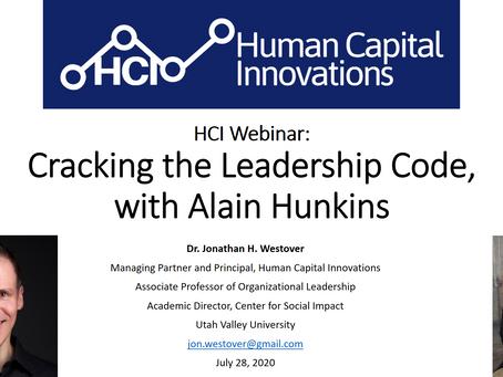 HCI Webinar: Cracking the Leadership Code, with Alain Hunkins
