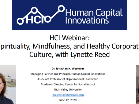 HCI Webinar: Spirituality, Mindfulness, and Healthy Corporate Culture, with Lynette Reed