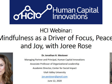 HCI Webinar: Mindfulness as a Driver of Focus, Peace, and Joy, with Joree Rose