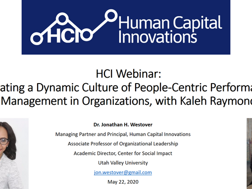 HCI网络研讨会:Creating a Dynamic Culture of People-Centric Performance Management in Organizations