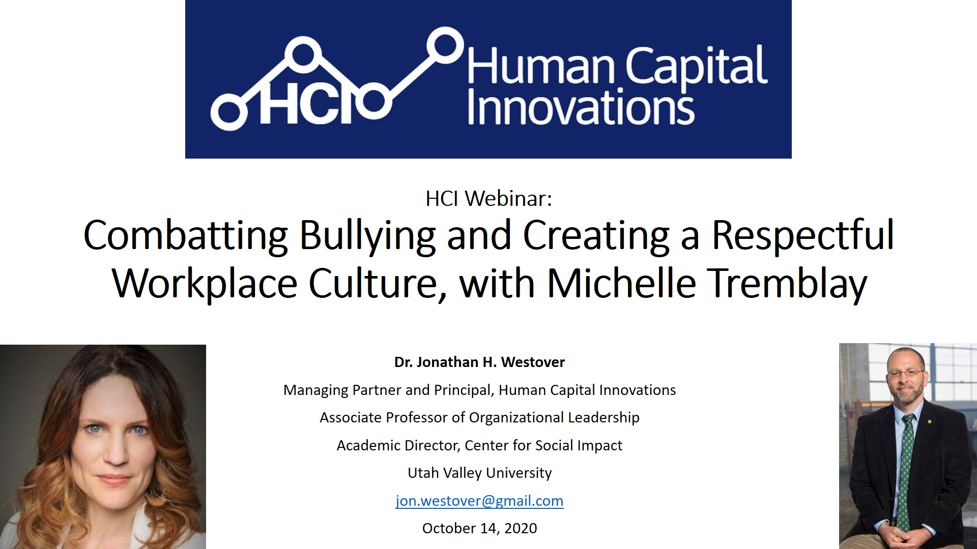 Combatting Bullying and Creating a Respectful Workplace Culture