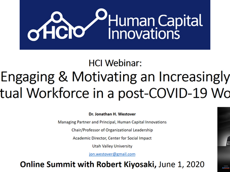 HCI Webinar: Engaging & Motivating an Increasingly Virtual Workforce in a post-COVID-19 World