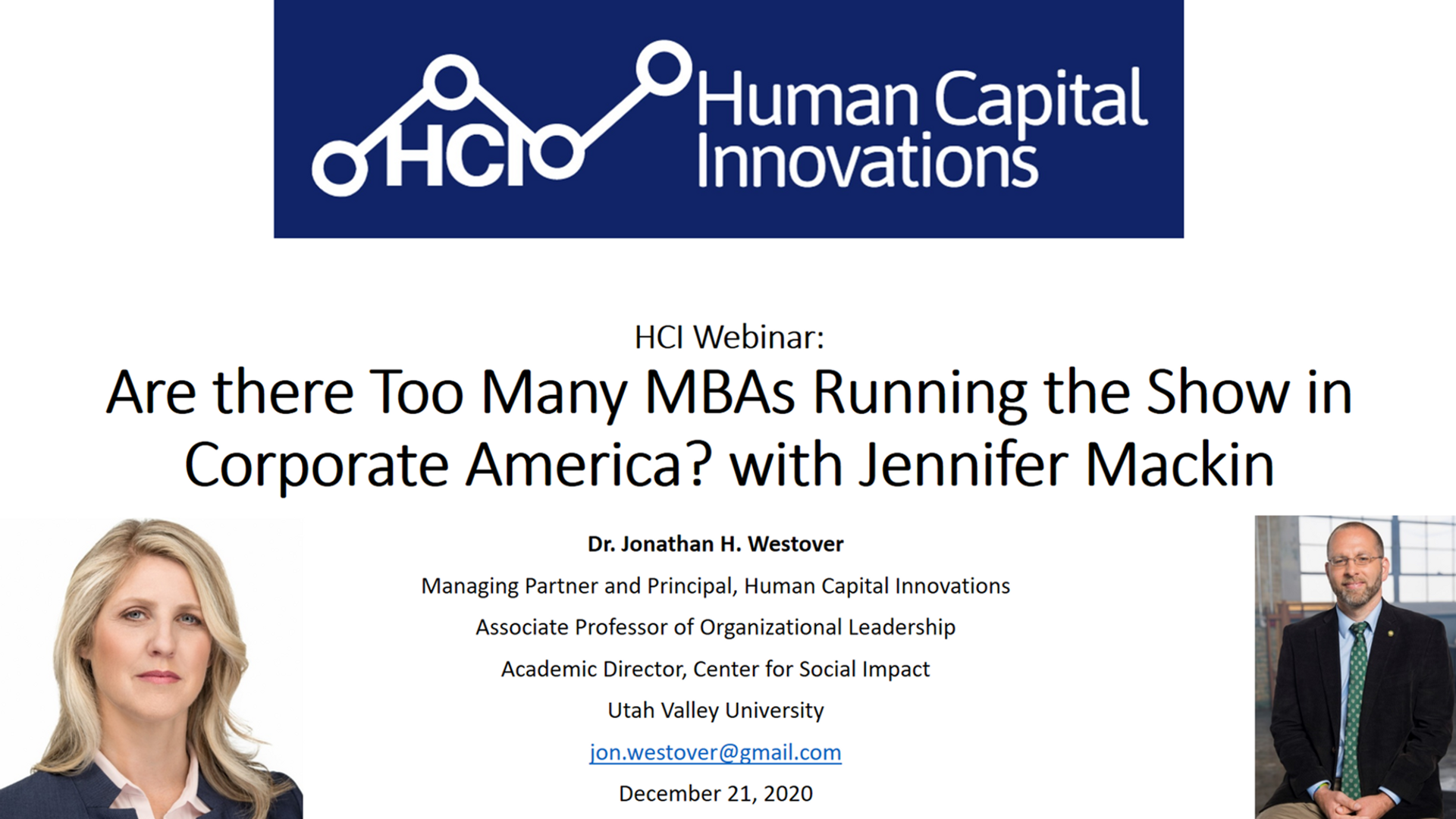 Are there Too Many MBAs Running the Show in Corporate America?