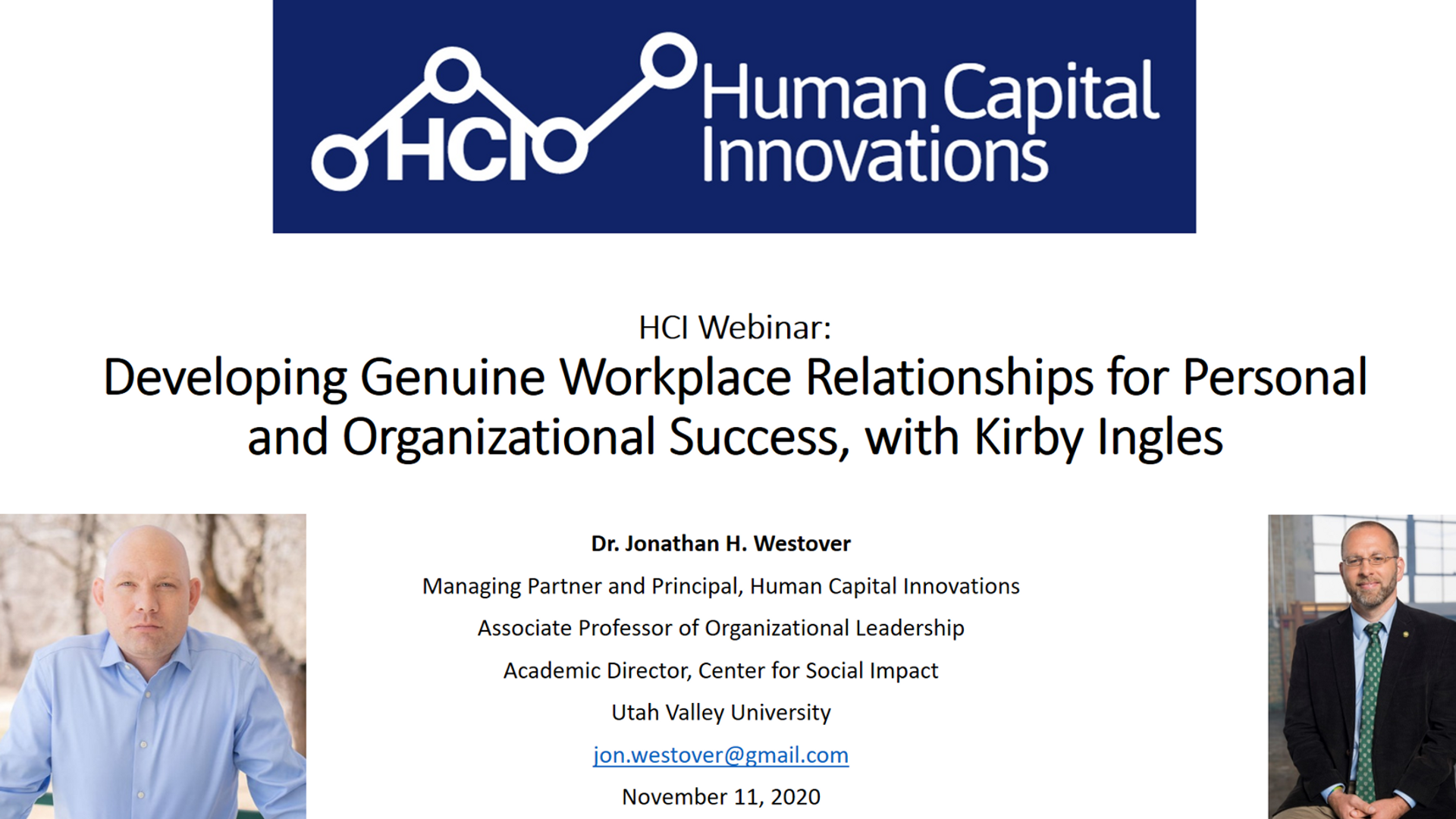 Genuine Workplace Relationships for Personal & Organizational Success