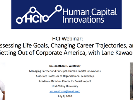 HCI Webinar: Assessing Life Goals and Changing Career Trajectories, with Lane Kawaoka