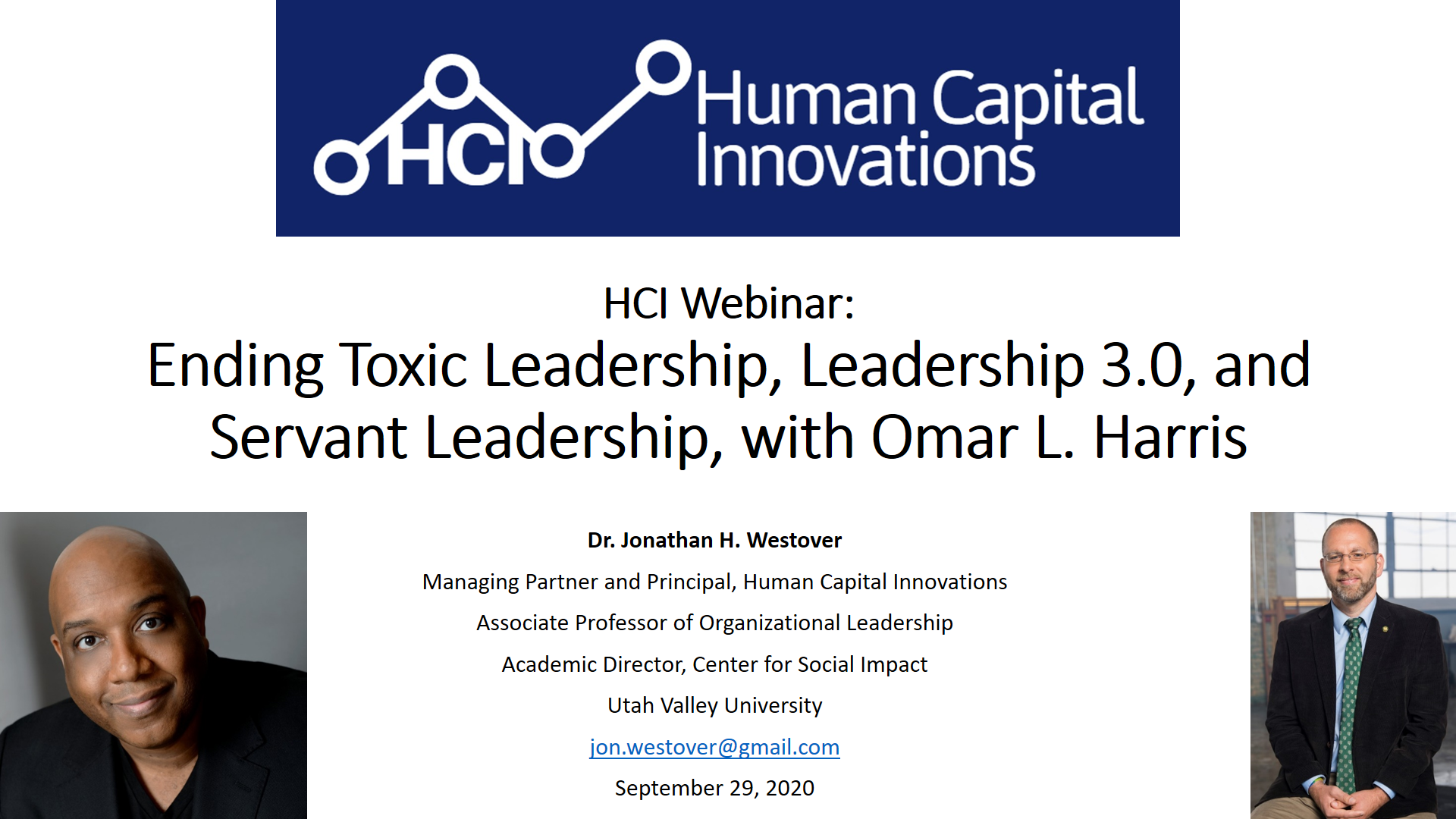 Ending Toxic Leadership, Leadership 3.0, and Servant Leadership