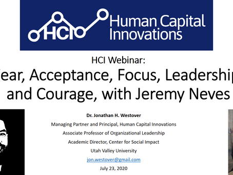 HCI Webinar: Fear, Acceptance, Focus, Leadership, and Courage, with Jeremy Neves