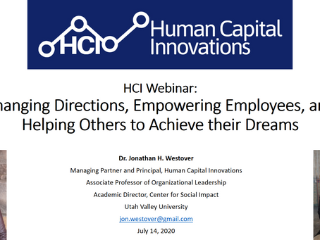 HCI Webinar: Changing Directions and Helping Others to Achieve their Dreams, with Mary Miller
