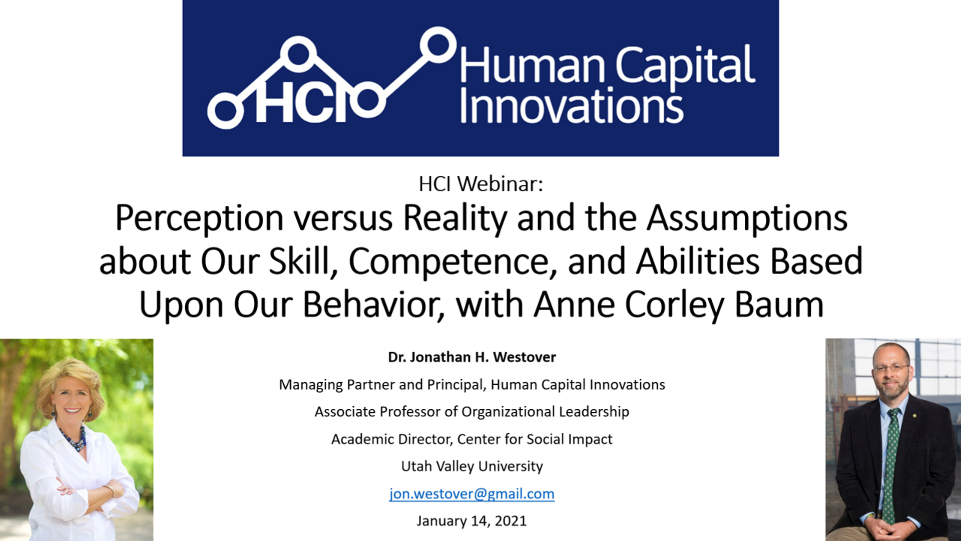 Perception vs. Reality & the Assumptions about Our Competence & Abilities