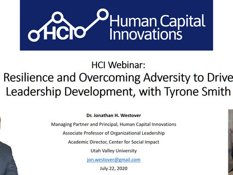 HCI Webinar: Resilience and Overcoming Adversity to Drive Leadership Development, with Tyrone Smith
