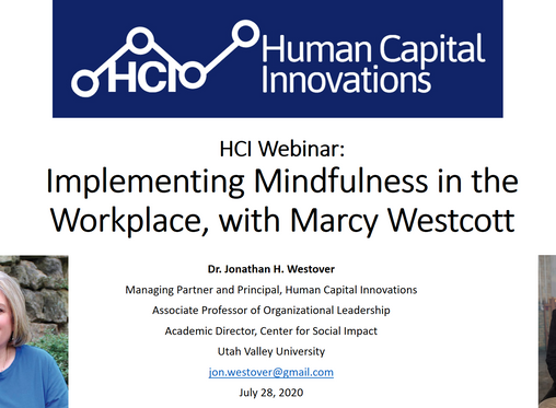 HCI Webinar: Implementing Mindfulness in the Workplace, with Marcy Westcott