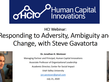 HCI Webinar: Responding to Adversity, Ambiguity and Change, with Steve Gavatorta