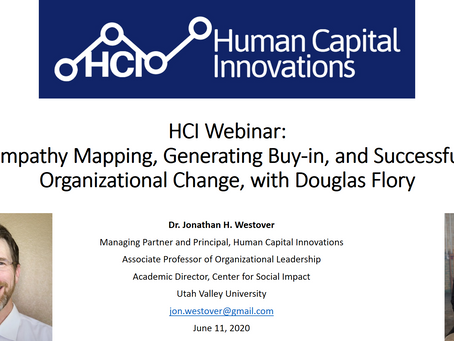 HCI Webinar: Empathy Mapping, Generating Buy-in, and Successful Organizational Change, with Douglas