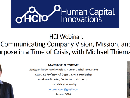 HCI Webinar: Company Vision, Mission, and Purpose During a Crisis, with Michael Thiemann
