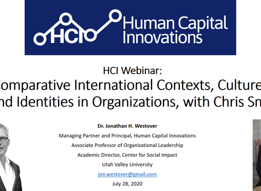 HCI Webinar: Comparative International Cultures, and Identities in Organizations, with Chris Smit