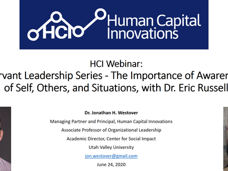 HCI Webinar: The Importance of Awareness of Self, Others, and Situations, with Dr. Eric Russell