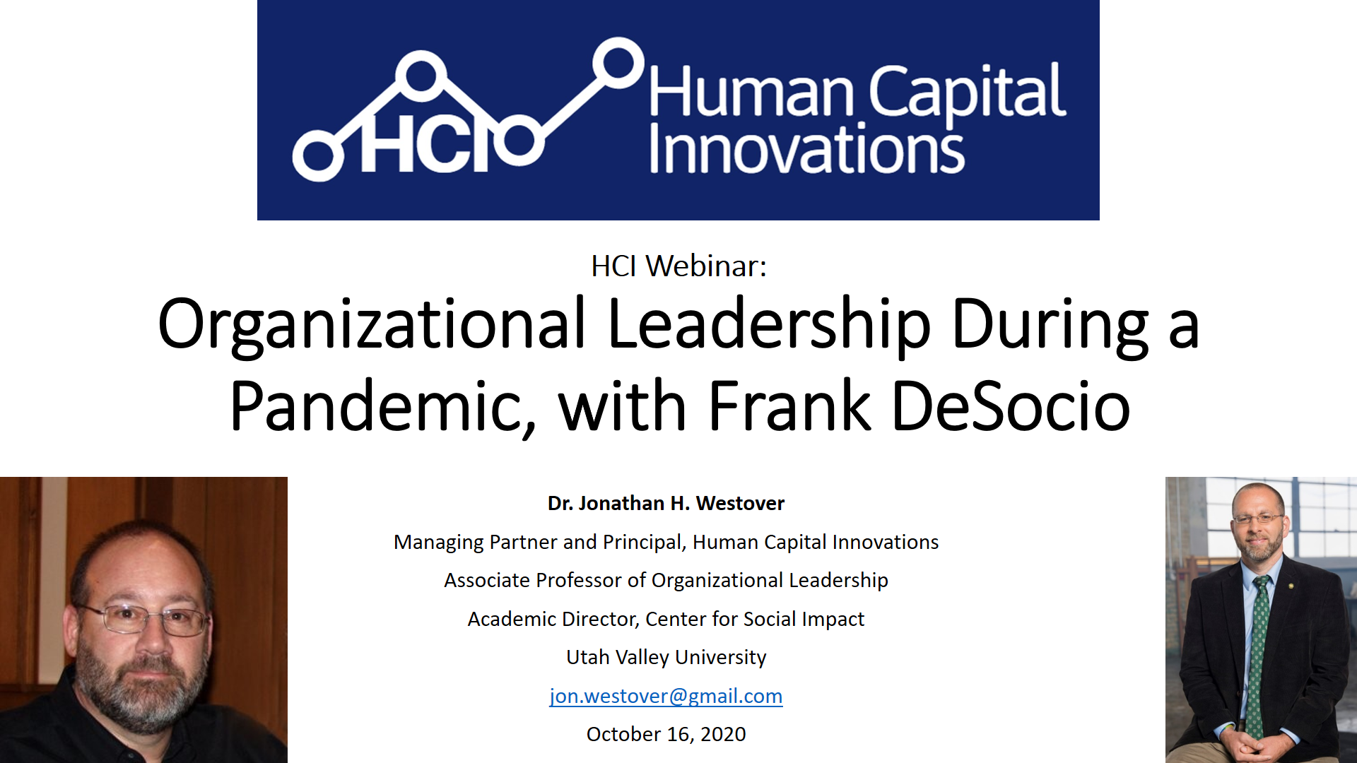 Organizational Leadership During a Pandemic