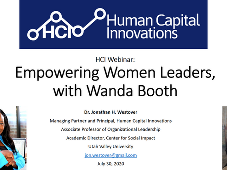 HCI Webinar: Empowering Women Leaders, with Wanda Booth
