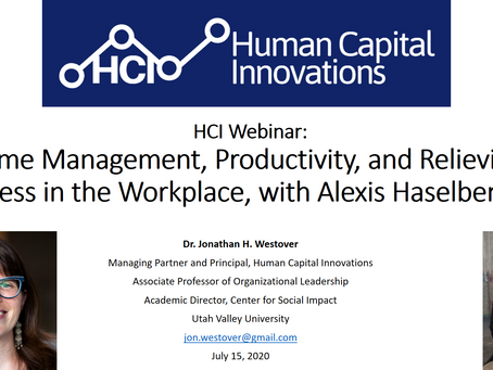 HCI Webinar: Time Management, Productivity, and Relieving Stress in the Workplace