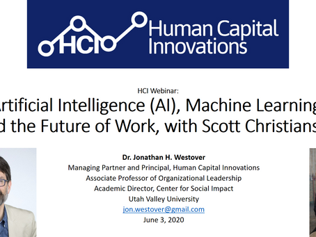 HCI Webinar: Artificial Intelligence (AI), and the Future of Work, with Scott Christianson