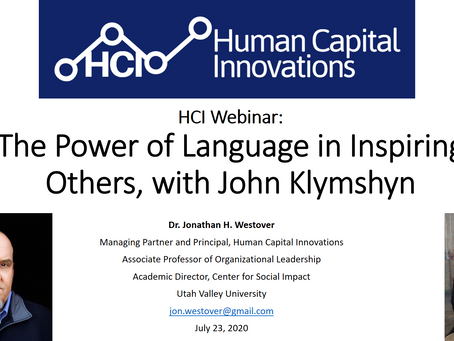HCI Webinar: The Power of Language in Inspiring Others, with John Klymshyn