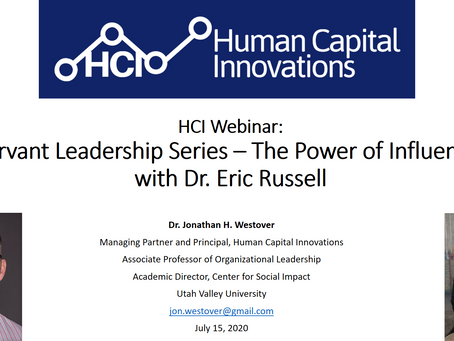 HCI Webinar: Servant Leadership Series - The Power of Persuasion, with Dr. Eric Russell