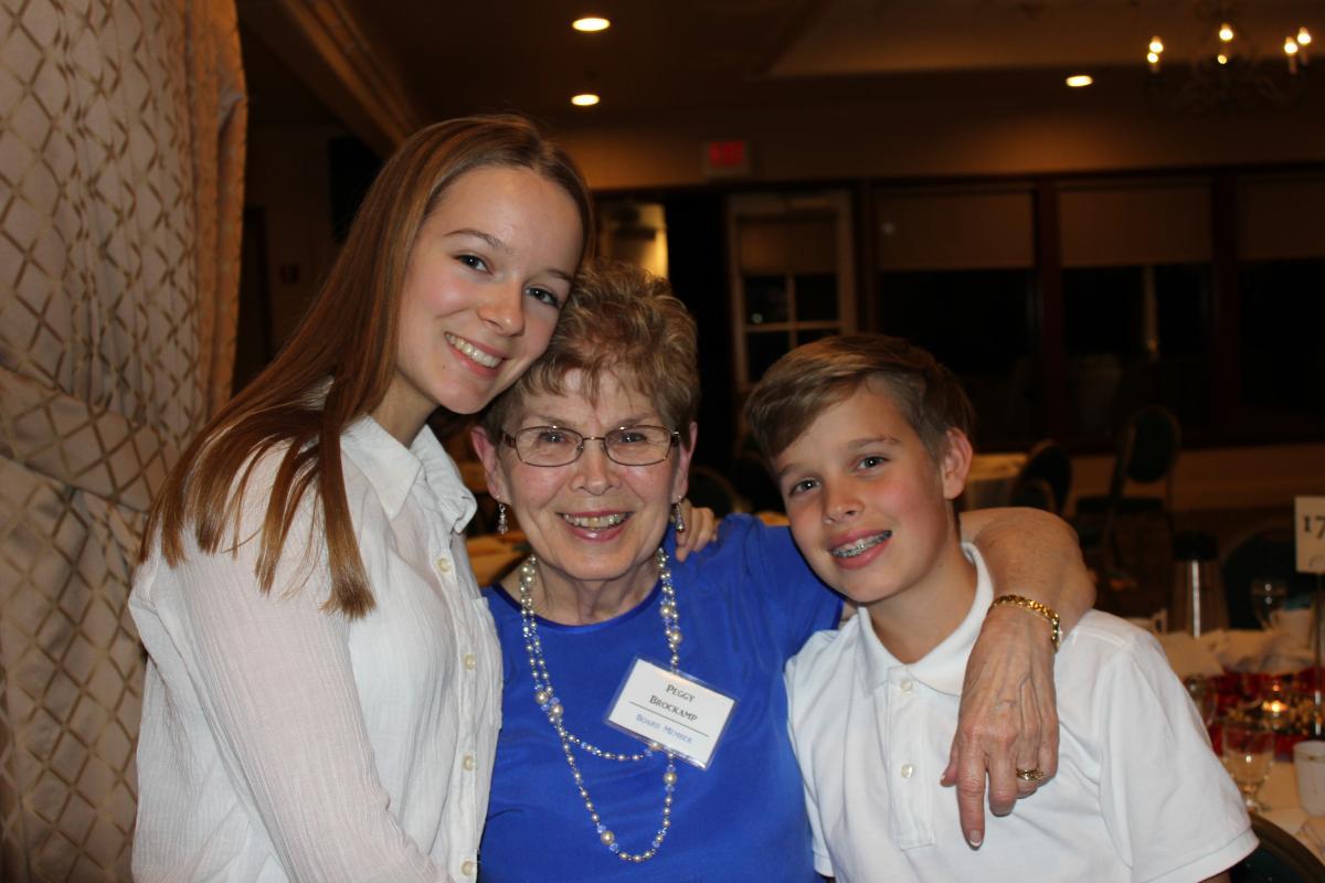 Peggy & grandkids