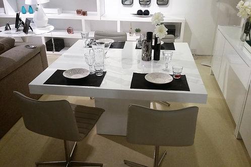 Mesa em  MDF Branco Laca - 1,20 x 1,20