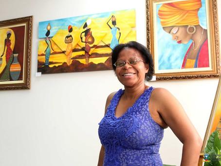 Belezas de Cariacica e do povo negro em pinturas no Frei Civitella.