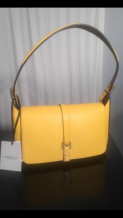 Marella Tasche - Gelb, Weiss