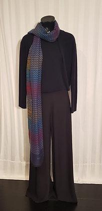 Emporio Armani Pullover - Twin Set Effect - 100% Kashmir - Dunkel Blau