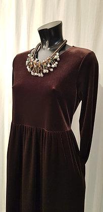 Pannensamt Kleid