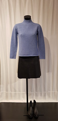 Hell Blau Pullover 100% Wolle